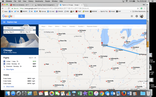 Pitt to Iowa Google Flight Map